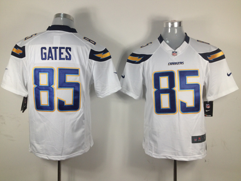 Los Angeles Chargers 85 gates white Game nike jerseys