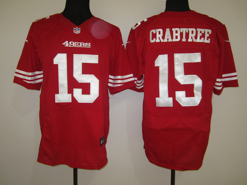 San Francisco 49ers 15 Crabtree Red Nike Elite Jersey