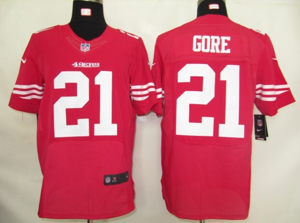 San Francisco 49ers 21 Gore Red Nike Elite Jersey
