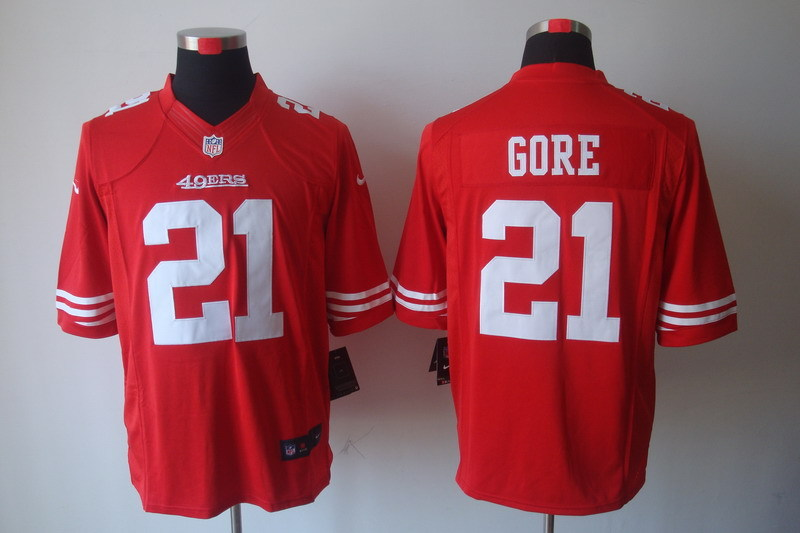 San Francisco 49ers 21 Gore Red Nike Limited Jerseys