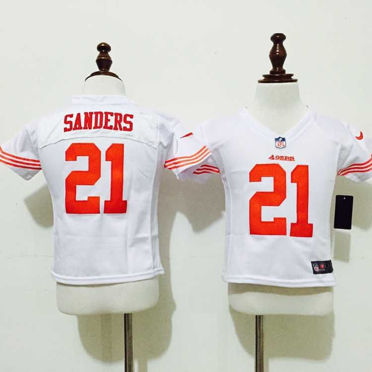 San Francisco 49ers 21 Sanders White 2015 Nike Baby Jersey