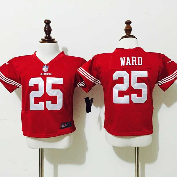 San Francisco 49ers 25 Ward Red Nike baby Jersey