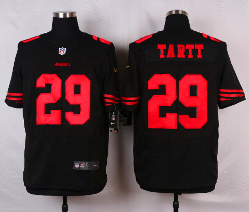 NFL Customize San Francisco 49ers 29 Tartt Black Men Nike Elite Jerseys