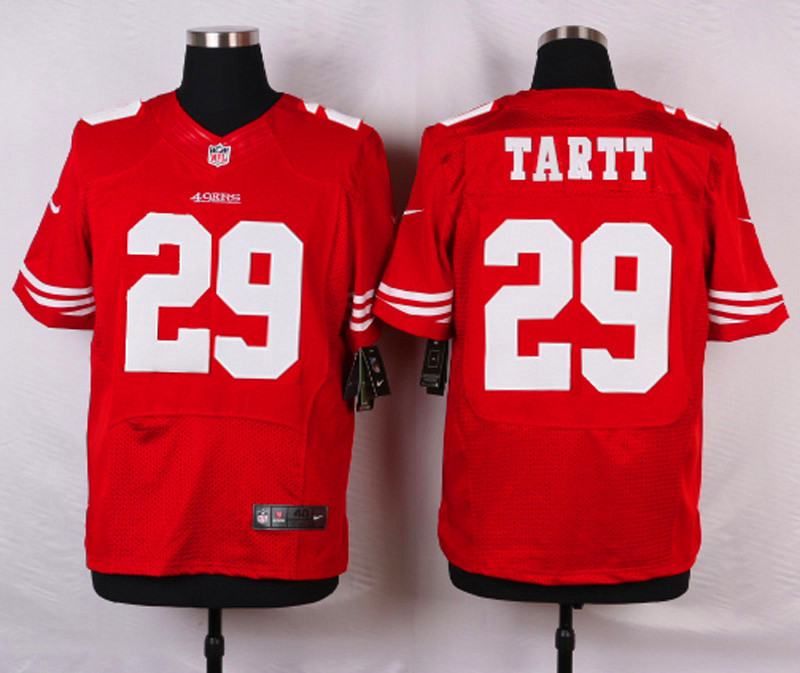 NFL Customize San Francisco 49ers 29 Tartt Red Men Nike Elite Jerseys