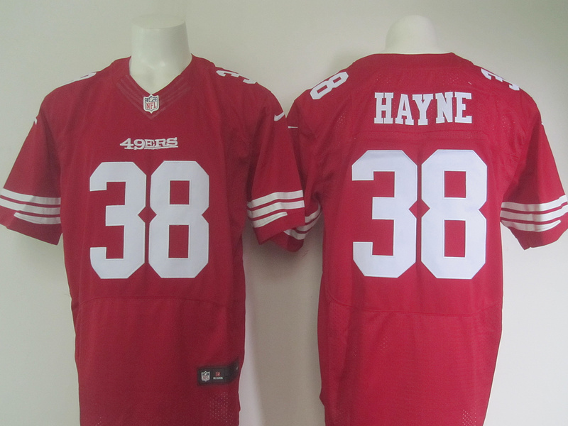 NFL Customize San Francisco 49ers 38 Hayne Red Men Nike Elite Jerseys