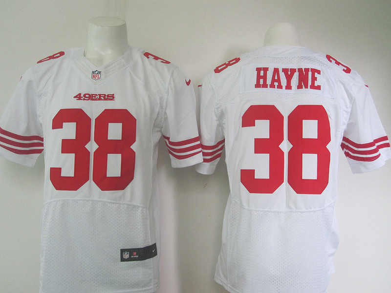 NFL Customize San Francisco 49ers 38 Hayne White Men Nike Elite Jerseys
