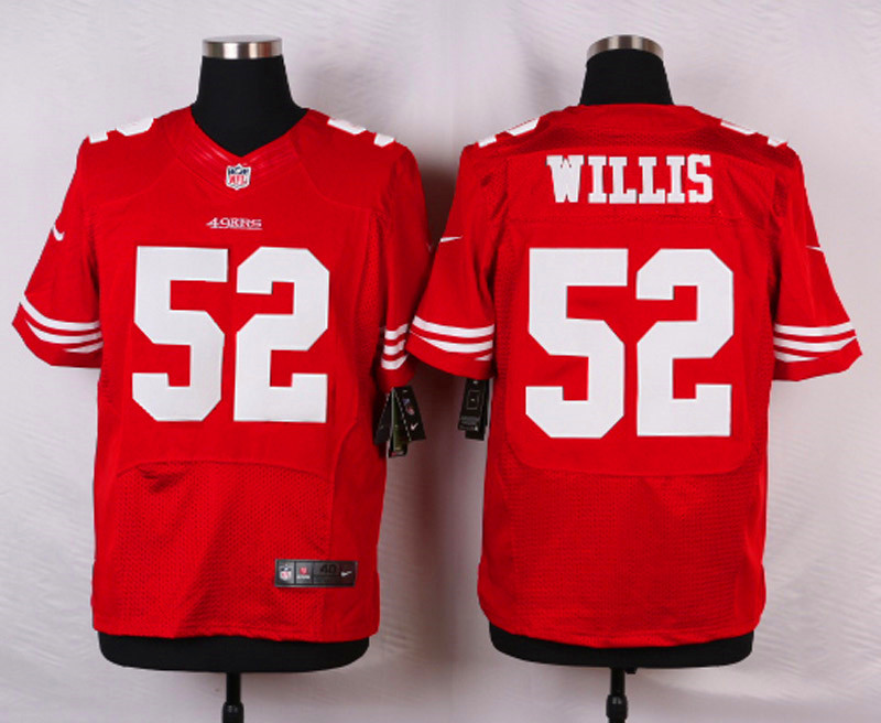 NFL Customize San Francisco 49ers 52 Willis Red 2015 Nike Elite Jersey