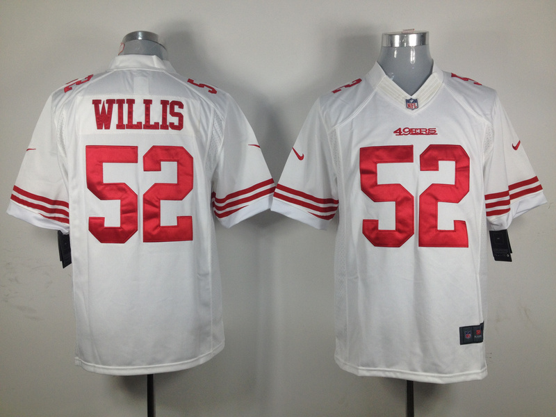 San Francisco 49ers 52 Willis White Nike Game Jersey