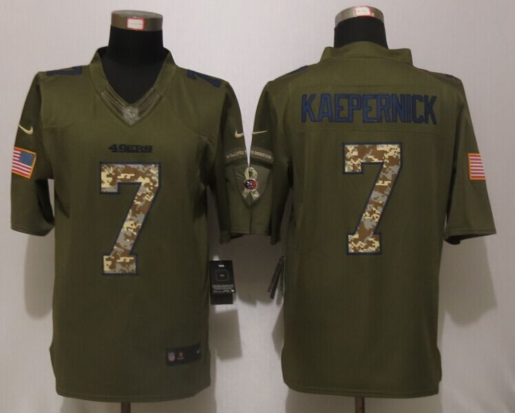 San Francisco 49ers 7 Kaepernick Green Salute To Service Nike Limited Jersey