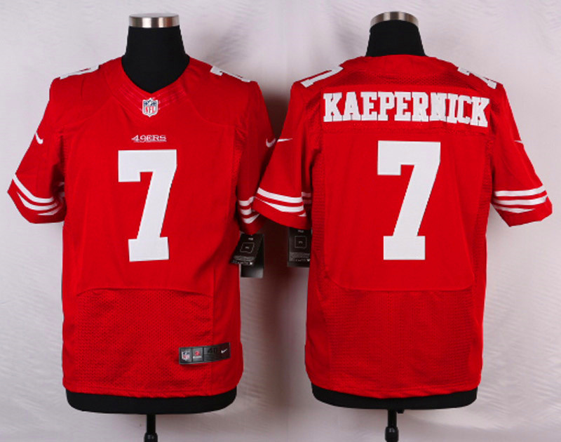 NFL Customize San Francisco 49ers 7 kaepepnick Red Men Nike Elite Jerseys