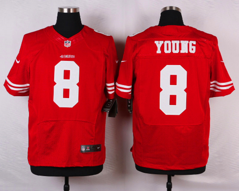 NFL Customize San Francisco 49ers 8 Young Red Men Nike Elite Jerseys