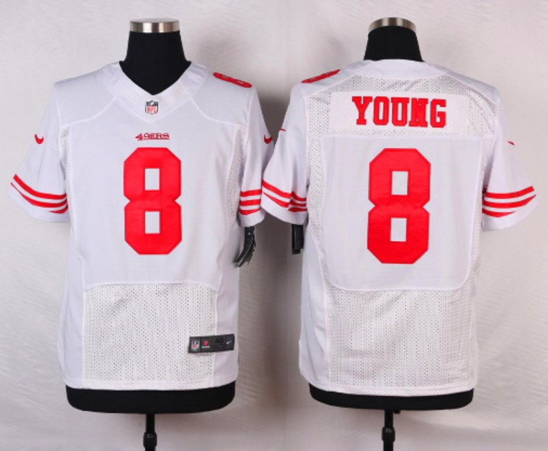 NFL Customize San Francisco 49ers 8 Young White Men Nike Elite Jerseys