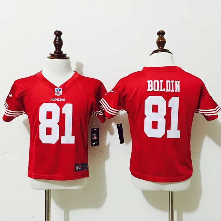 San Francisco 49ers 81 Boldin Red Nike baby Jersey