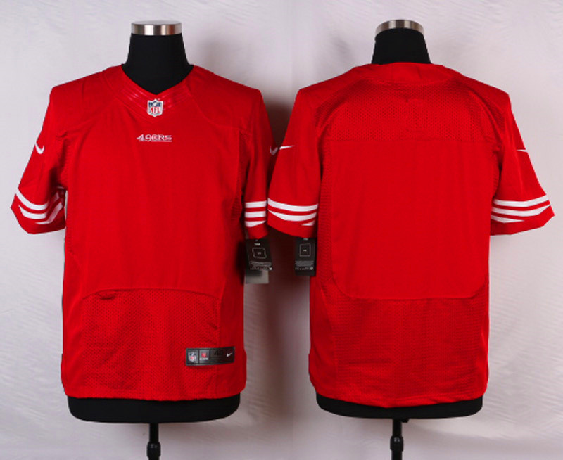 NFL Customize San Francisco 49ers Blank Red 2015 Nike Elite Jersey