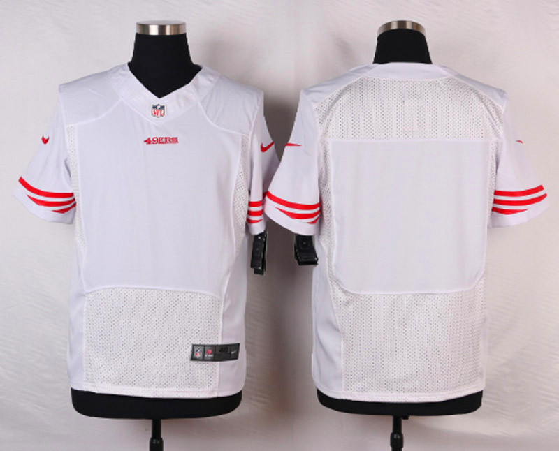 NFL Customize San Francisco 49ers Blank White 2015 Nike Elite Jersey