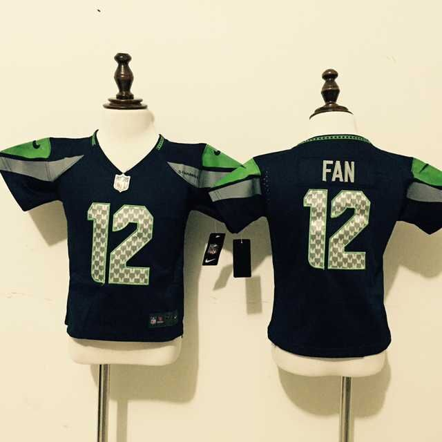 Seattle Seahawks 12 Fan Blue Nike baby Jersey