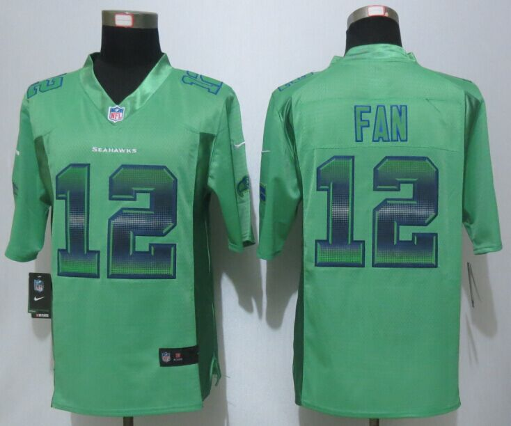 Seattle Seahawks 12 Fan Green Strobe 2015 New Nike Limited Jersey