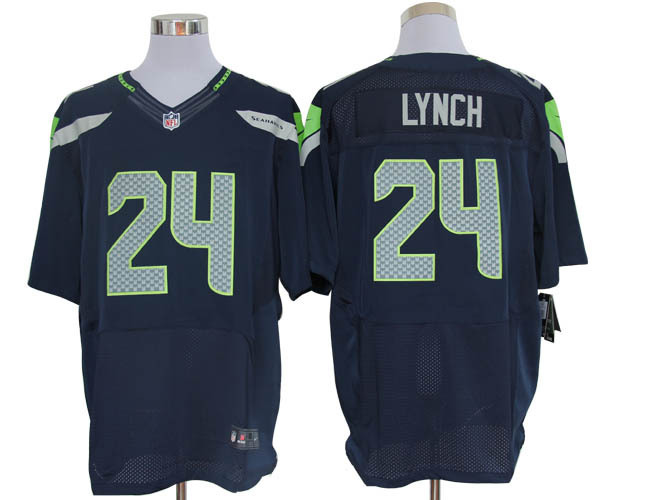 Seattle Seahawks 24 Lynch Blue Nike Elite Jerseys