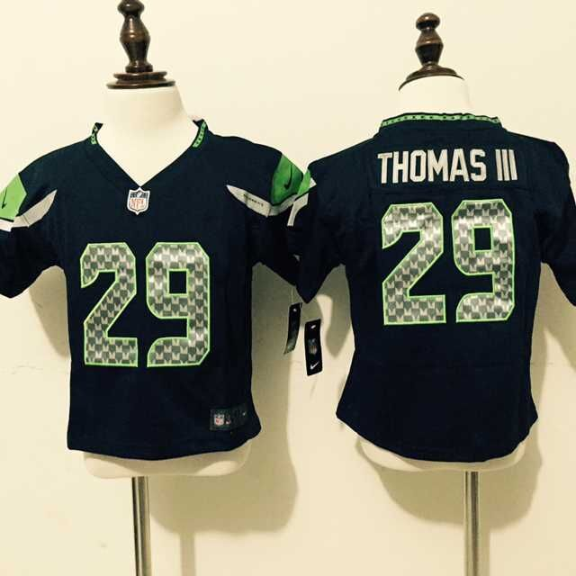 Seattle Seahawks 29 Thomas III Blue Nike baby Jersey