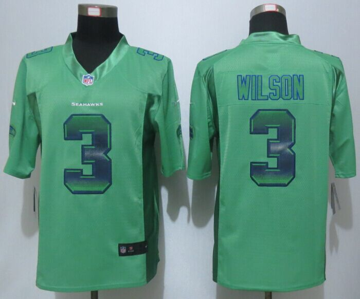 Seattle Seahawks 3 Wilson Green Strobe 2015 New Nike Limited Jersey