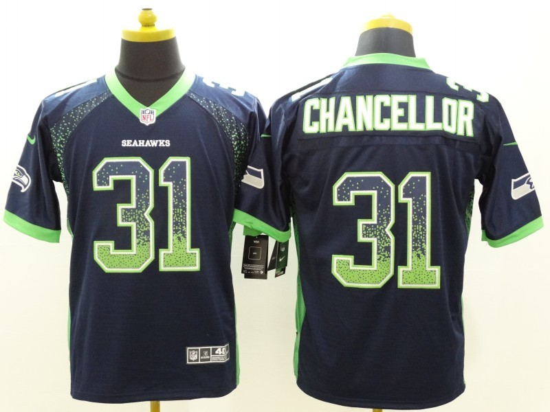 Seattle Seahawks 31 Chancellor Drift Fashion Blue Nike Elite Jerseys
