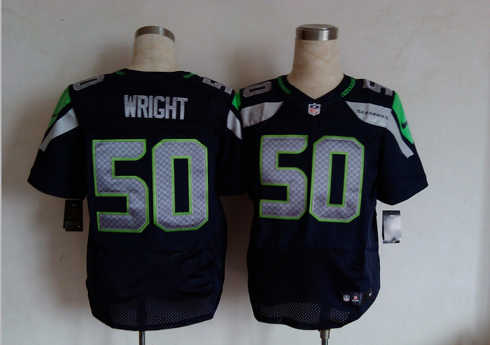 Seattle Seahawks 50 Wright Blue Nike Elite Jersey