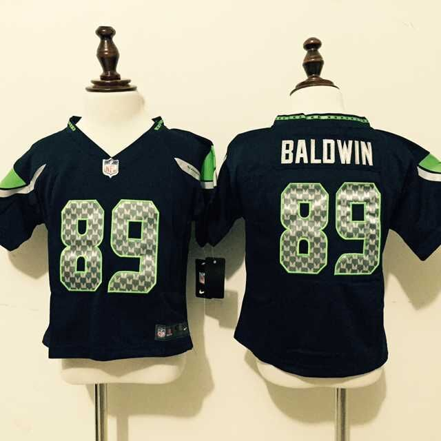 Seattle Seahawks 89 Baldwin Blue Nike baby Jersey