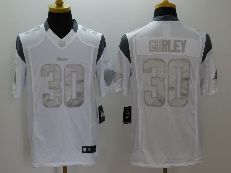 St. Louis Rams 30 Gurley White Nike Platinum Jerseys