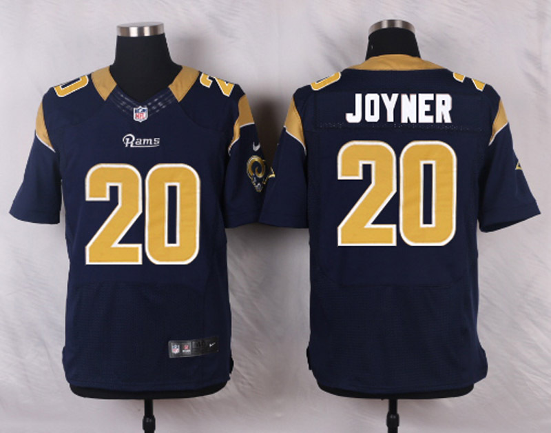 NFL Customize St.Louis Rams 20 Joyner blue Men Nike Elite Jerseys