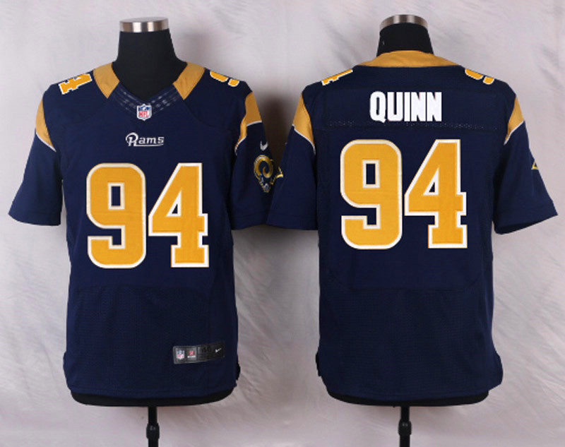 NFL Customize St.Louis Rams 94 Robert Quinn Blue Men Nike Elite Jerseys