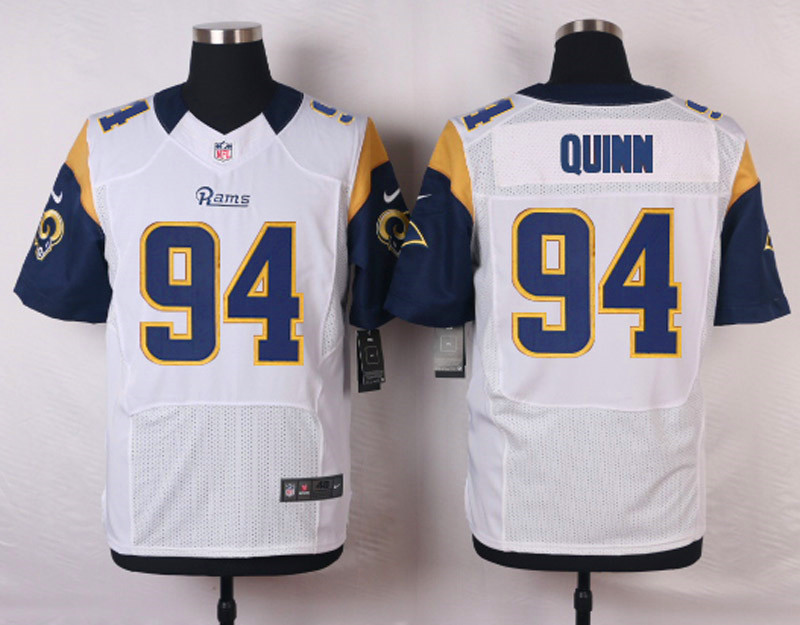 NFL Customize St.Louis Rams 94 Robert Quinn White Men Nike Elite Jerseys