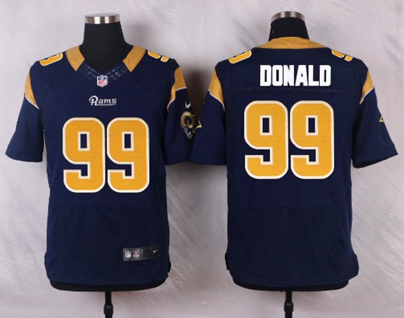NFL Customize St.Louis Rams 99 Donald blue Men Nike Elite Jerseys