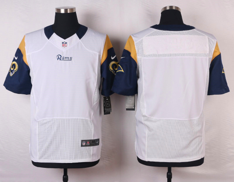 NFL Customize St.Louis Rams Blank White 2015 Elite Nike Jerseys