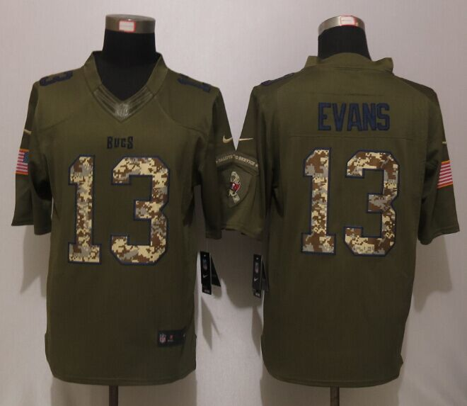 Tampa Bay Buccaneers 13 Evans Green Salute To Service New Nike Limited Jersey