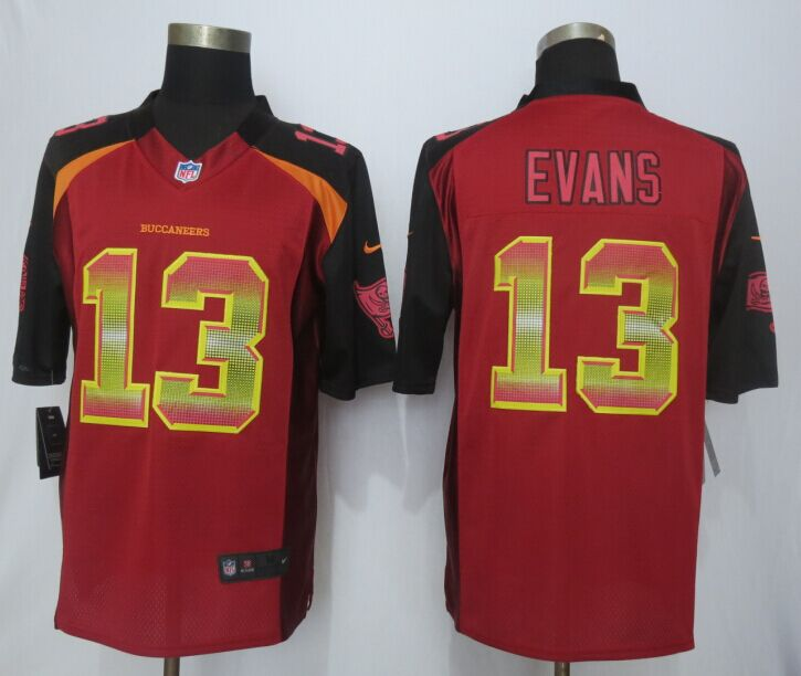 Tampa Bay Buccaneers 13 Evans Red Strobe 2015 New Nike Limited Jersey