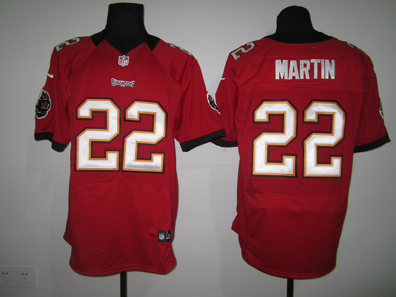 Tampa Bay Buccaneers 22 Martin Red Nike Elite Jersey
