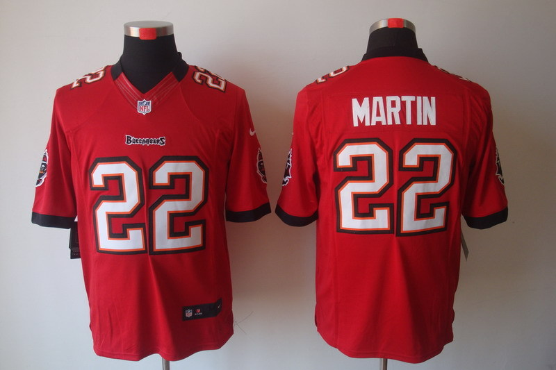 Tampa Bay Buccaneers 22 Martin Red Nike Limited Jerseys