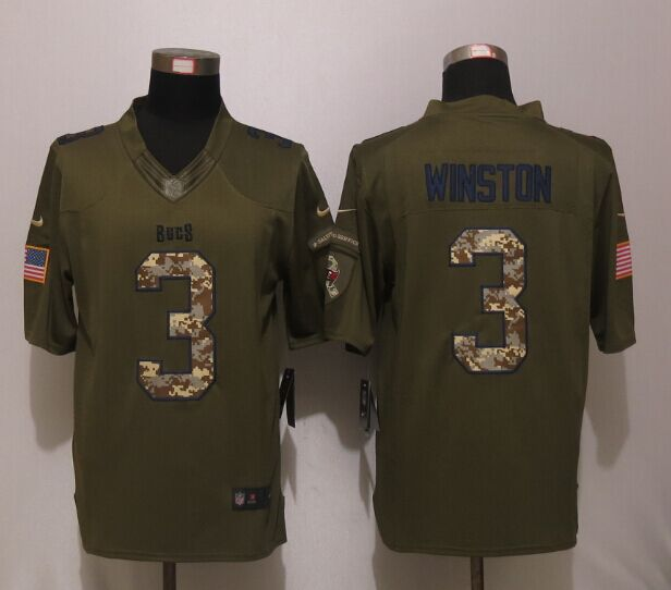 Tampa Bay Buccaneers 3 Winston Green Salute To Service New Nike Limited Jersey