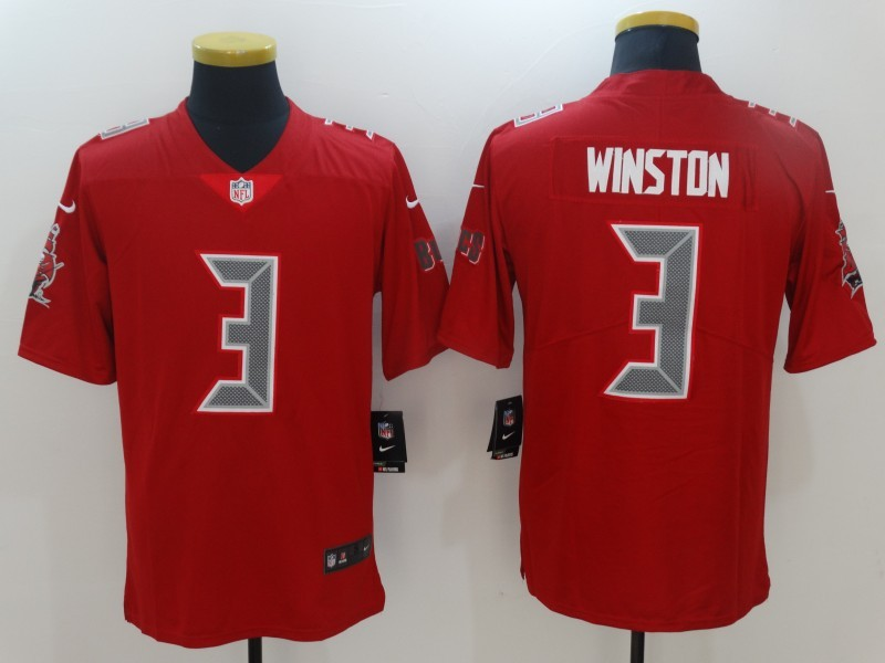 Tampa Bay Buccaneers 3 Winston Red Color Rush Limited Jersey
