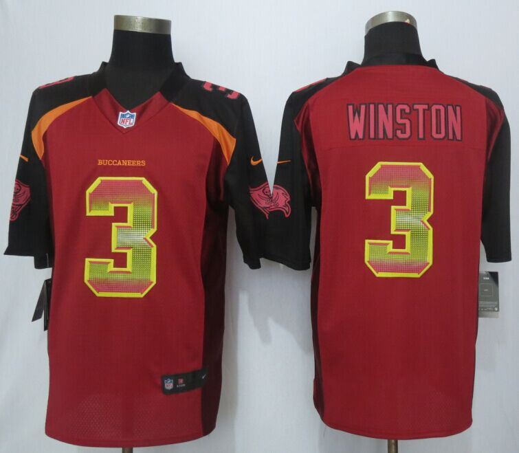 Tampa Bay Buccaneers 3 Winston Red Strobe 2015 New Nike Limited Jersey