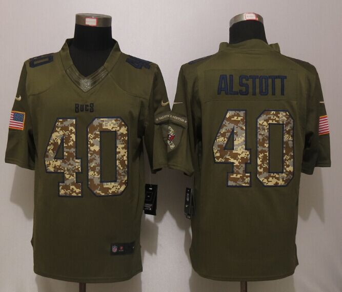 Tampa Bay Buccaneers 40 Alstott Green Salute To Service New Nike Limited Jersey