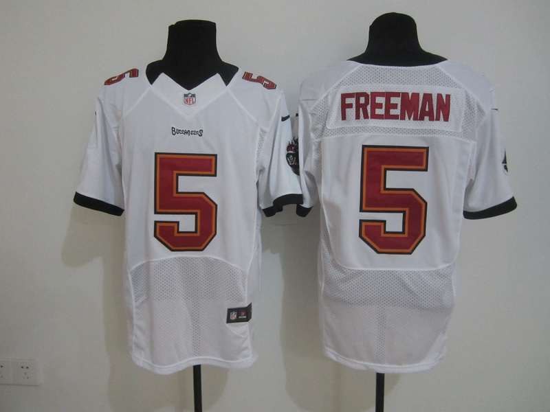 Tampa Bay Buccaneers 5 Freeman White Nike Elite Jersey