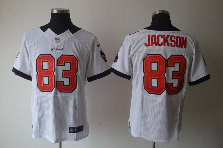 Tampa Bay Buccaneers 83 Jackson White Nike Elite Jerseys.