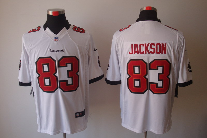 Tampa Bay Buccaneers 83 Jackson White Red Nike Limited Jerseys