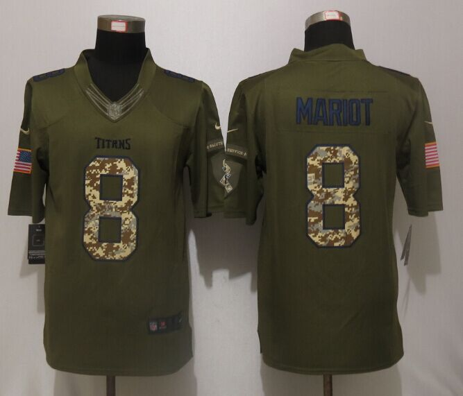 Tennessee Titans 8 Mariota Green Salute To Service Nike Limited Jersey