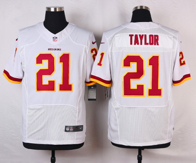 NFL Customize Washington Redskins 21 Taylor White Men Nike Elite Jerseys