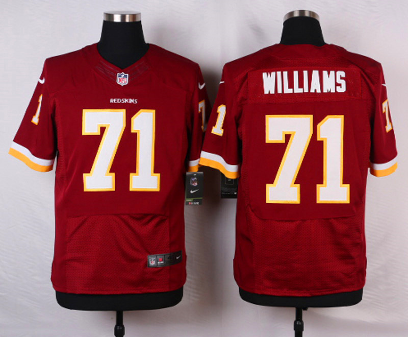 NFL Customize Washington Red 71 Williams Red Men Nike Elite Jerseys
