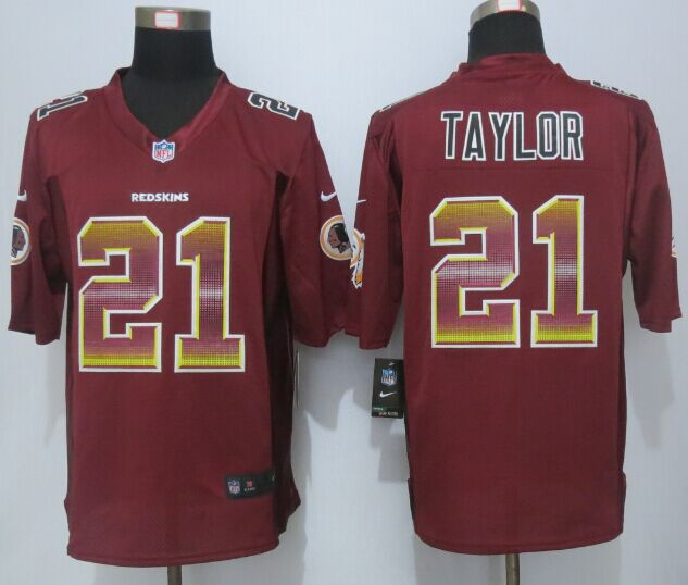 Washington RedSkins 21Taylor Red Strobe 2015 New Nike Limited Jersey