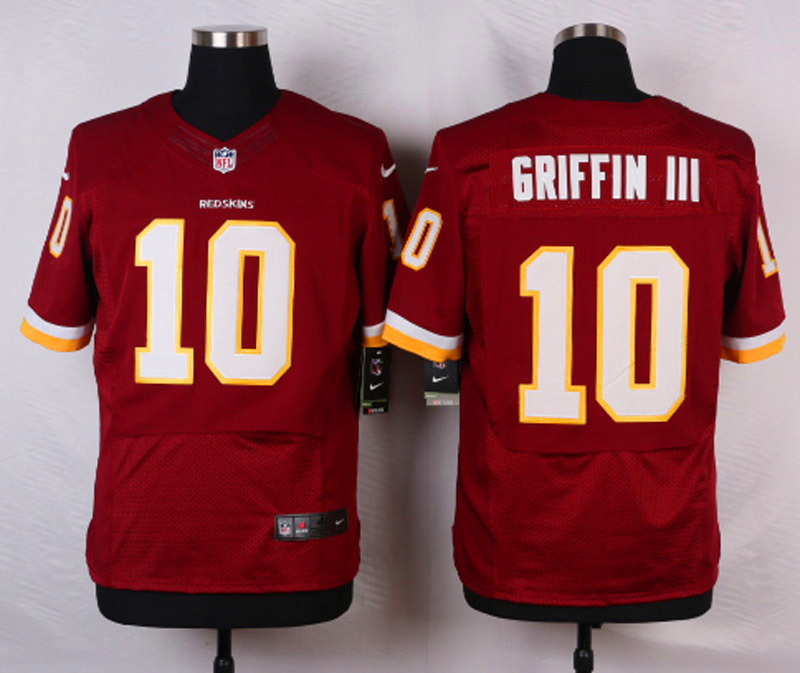 NFL Customize Washington Redskins 10 Griffin III Red 2015 Nike Elite Jersey