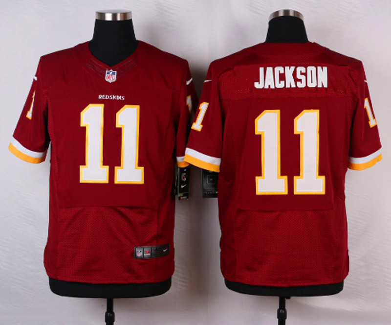 NFL Customize Washington Redskins 11 DeSean Jackson Burgundy Red 2015 Elite Jersey